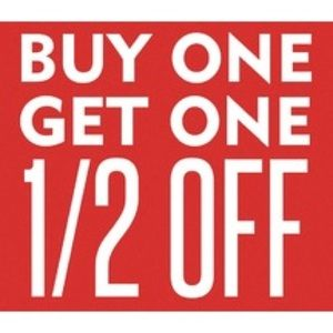 Buy one get one 1/2 off (listed price)!